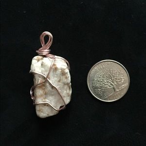 Jewelry - Pink Wire Glacier Alaska Crystal Necklace